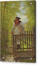 The Tomboy Acrylic Print by John George Brown