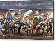 The Trail Of Tears Acrylic Print by Granger