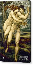 The Tree Of Forgiveness Acrylic Print by Sir Edward Burne-Jones