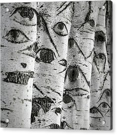 The Trees Have Eyes Acrylic Print by Wim Lanclus