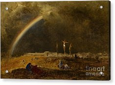 The Triumph At Calvary Acrylic Print by George Inness