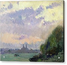 The Trocadero Acrylic Print by Albert Charles Lebourg