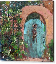 The Turquoise Door Acrylic Print by Julia Patterson