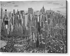 The Ultimate New York City Drawing Acrylic Print by Stefan Bleekrode