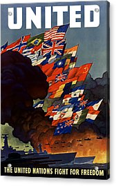 The United Nations Fight For Freedom Acrylic Print by War Is Hell Store