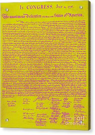 The United States Declaration Of Independence 20130215m68 Acrylic Print by Wingsdomain Art and Photography