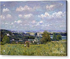 The Valley Of The Seine At Saint Cloud Acrylic Print by Alfred Sisley