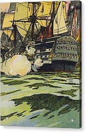 The Victory At Trafalgar  Acrylic Print by English School