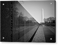 The Vietnam Veterans Memorial Washington Dc Acrylic Print by Ilker Goksen