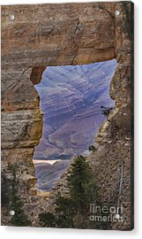 The  View Through The Angels'  Window Acrylic Print by Robert Bales