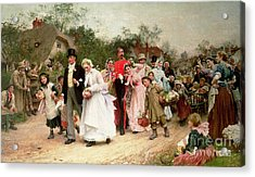 The Village Wedding Acrylic Print by Sir Samuel Luke Fildes
