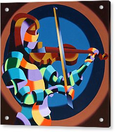 The Violinist Acrylic Print by Mark Webster