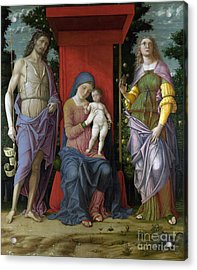 The Virgin And Child With Saints Acrylic Print by Celestial Images