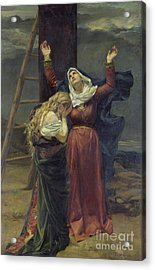 The Virgin At The Foot Of The Cross Acrylic Print by Jean Joseph Weerts
