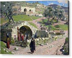 The Virgin Spring In Nazareth Acrylic Print by Vasilij Dmitrievich Polenov