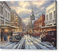 The Warmth Of Small Town Living Acrylic Print by Chuck Pinson