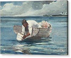 The Water Fan Acrylic Print by Winslow Homer