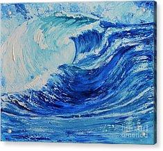 The Wave Acrylic Print by Teresa Wegrzyn
