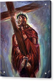 The Way Of The Cross Acrylic Print by Tommy  Winn