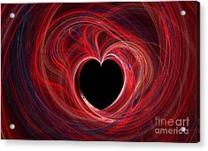 The Way To My Heart Acrylic Print by Kaye Menner