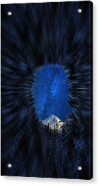 The Wedge Through The Trees Zoom Acrylic Print by Pelo Blanco Photo