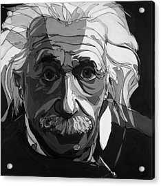 The Weight Of Genius Acrylic Print by John Gibbs
