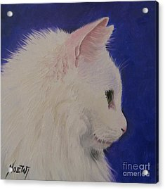 The White Cat Acrylic Print by Jindra Noewi
