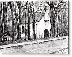 The White Chapel Acrylic Print by Vincent Alexander Booth