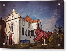 The White Church Of Santa Luzia Acrylic Print by Carol Japp
