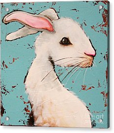 The White Rabbit Acrylic Print by Lucia Stewart