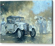 The White Tourer Acrylic Print by Peter Miller