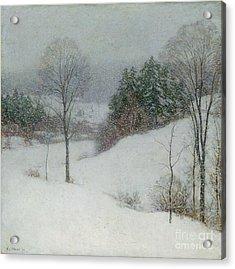 The White Veil Acrylic Print by Willard Leroy Metcalf