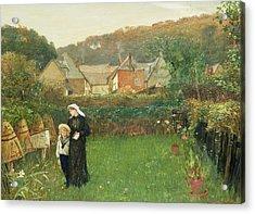 The Widow Acrylic Print by Charles Napier Hemy