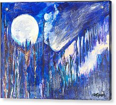 The Wind Blows A Kiss To The Moon Acrylic Print by Seth Weaver