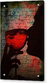 The Wine Diaries Acrylic Print by Greg Sharpe