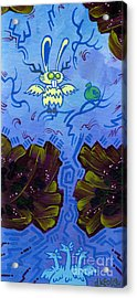 The Winged Jackalope Gots Da Loot. Doz Chickens Want Some But They Aint Getin None Of It Acrylic Print by Dan Keough