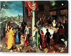The Winter Feast Acrylic Print by Hendrik van the Elder Balen