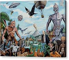 The World Of Ray Harryhausen Acrylic Print by Tony Banos