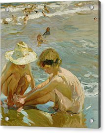 The Wounded Foot Acrylic Print by Joaquin Sorolla y Bastida