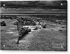 The Wreck Of The Sheraton In Black And White Acrylic Print by John Edwards