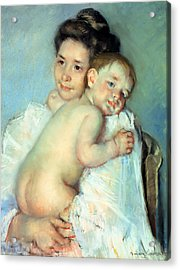 The Young Mother Acrylic Print by Mary Stevenson Cassatt