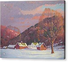 The Zieminski Farm Acrylic Print by Len Stomski