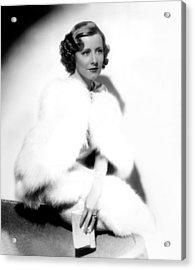 Theodora Goes Wild, Irene Dunne, 1936 Acrylic Print by Everett