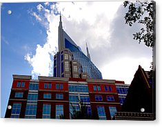 There Where Modern And Old Architecture Meet Acrylic Print by Susanne Van Hulst