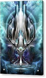 Thereenian Epoch Fractal Fantasy Art Acrylic Print by Xzendor7