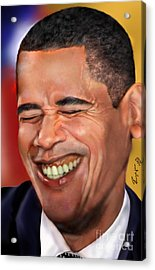 They Called Me Mr. President 1 Acrylic Print by Reggie Duffie