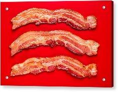 Thick Cut Bacon Acrylic Print by Steve Gadomski