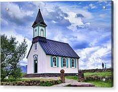 Thingvellir Church Acrylic Print by Wendy White
