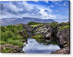 Thingvellir National Park Acrylic Print by Wendy White