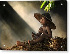 Think Acrylic Print by Andre Arment